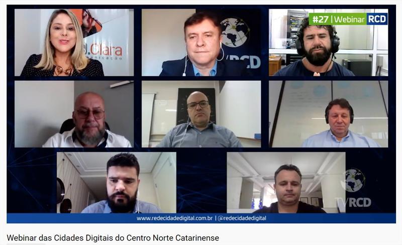Webinar das Cidades Digitais do Centro Norte Catarinense reúne gestores de quase 60 municípios