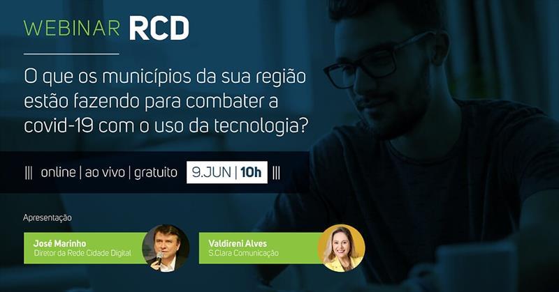 RCD promove evento online para municípios do Sul de Santa Catarina