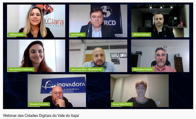 Quase 60 Prefeituras participam de evento online sobre cidades digitais no Vale do Itajaí