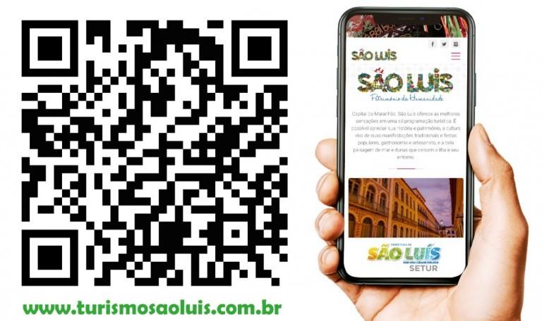 São Luis investe na divulgação digital com distribuição de adesivos QR Code