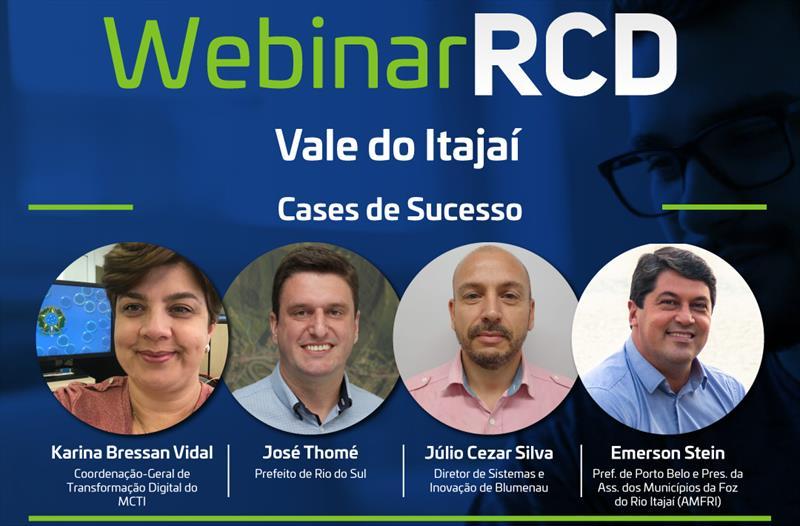Webinar das Cidades Digitais compartilha tecnologias nos municípios do Vale do Itajaí