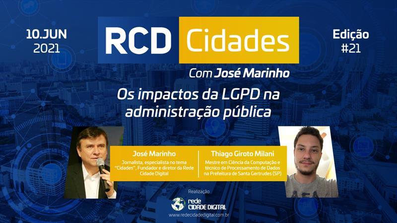 RCD Cidades aborda os impactos da LGPD na administração pública